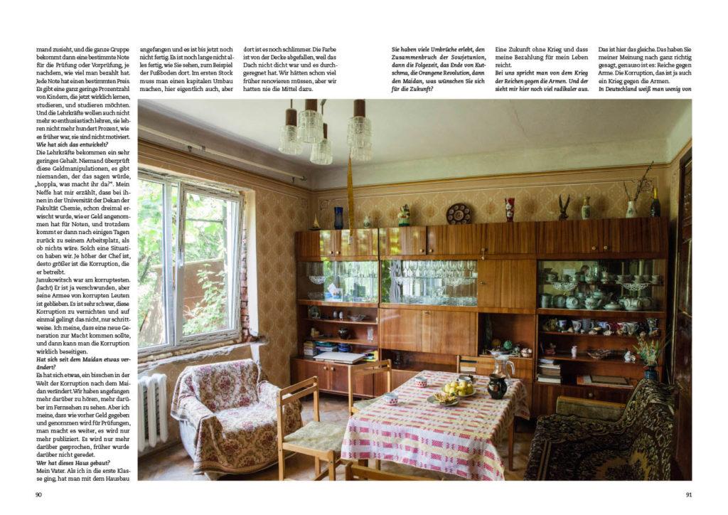 Uschgorod in der Ukraine, Wohnzimmer